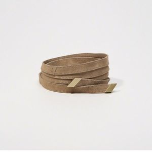 NWT Abercrombie & Fitch Suede Wrap Belt